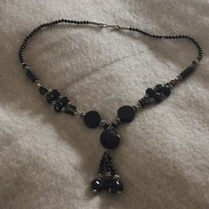 Jewelry - Black stone and silver necklace